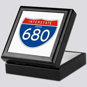 Interstate 680 - OH Keepsake Box