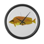 Kelp Greenling fish Large Wall Clock