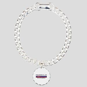 Property Of Slovakia Charm Bracelet, One Charm