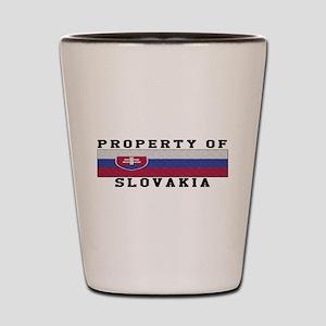 Property Of Slovakia Shot Glass