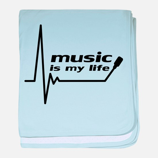 music_is_my_life baby blanket