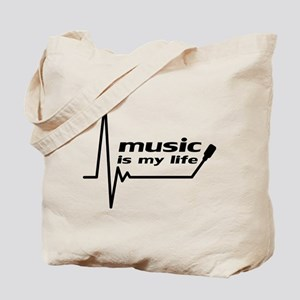 music_is_my_life Tote Bag