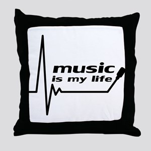 music_is_my_life Throw Pillow