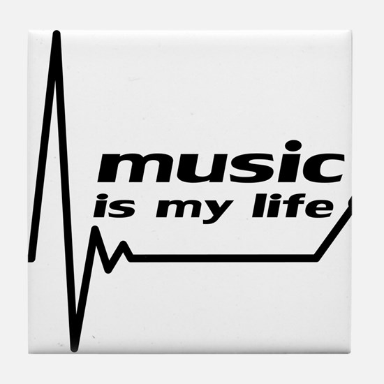 music_is_my_life Tile Coaster