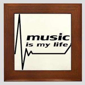 music_is_my_life Framed Tile