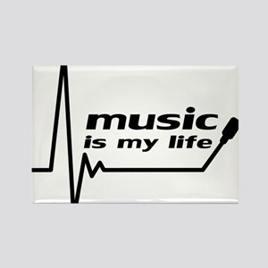 music_is_my_life Rectangle Magnet