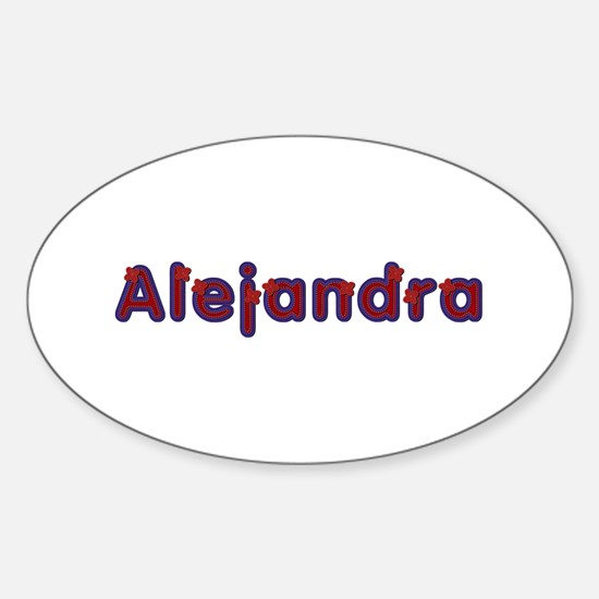 Alejandra Red Caps Oval Decal