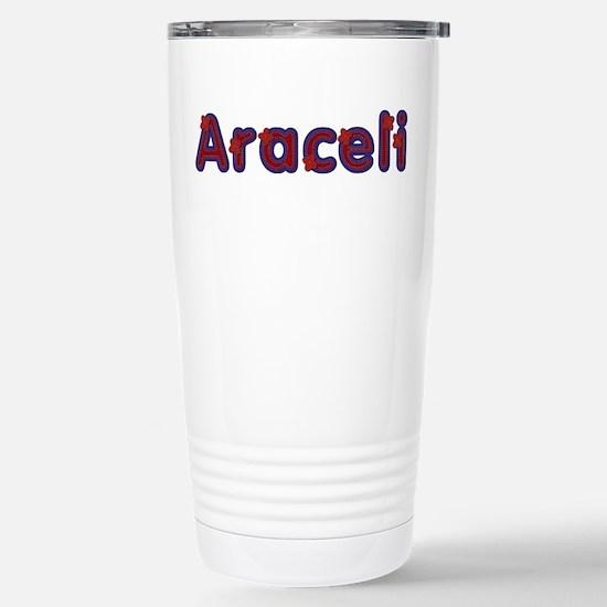 Araceli Red Caps Stainless Steel Travel Mug