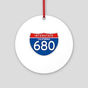 Interstate 680 - CA Ornament (Round)