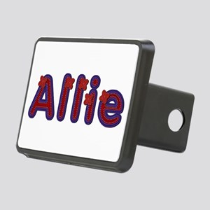 Allie Red Caps Rectangular Hitch Cover