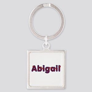Abigail Red Caps Square Keychain