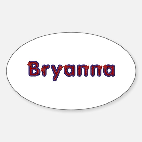 Bryanna Red Caps Oval Decal