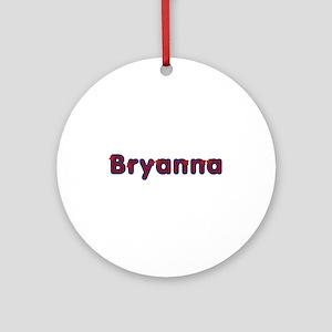 Bryanna Red Caps Round Ornament