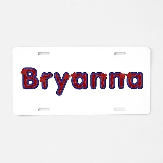 Bryanna Red Caps Aluminum License Plate