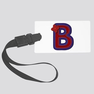 B Red Caps Large Luggage Tag