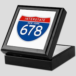 Interstate 678 - NY Keepsake Box