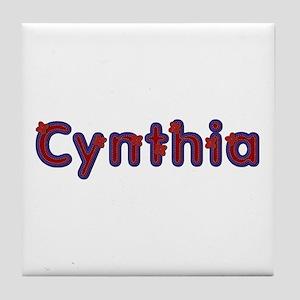 Cynthia Red Caps Tile Coaster