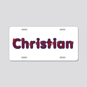 Christian Red Caps Aluminum License Plate