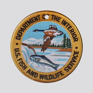U S Fish Wildlife Service Ornament (Round)