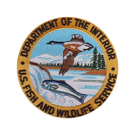 """U S Fish Wildlife Service 3.5"""" Button"""