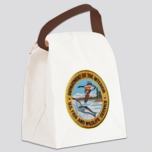 U S Fish Wildlife Service Canvas Lunch Bag