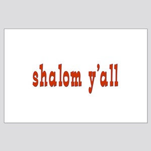 Greetings shalom y'all Large Poster