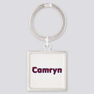 Camryn Red Caps Square Keychain