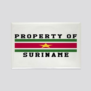 Property Of Suriname Rectangle Magnet