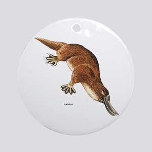 Platypus Animal Ornament (Round)
