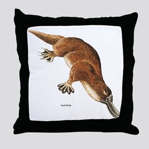 Platypus Animal Throw Pillow