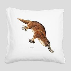 Platypus Animal Square Canvas Pillow