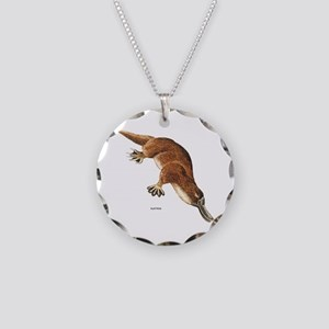 Platypus Animal Necklace Circle Charm