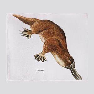 Platypus Animal Throw Blanket