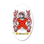 Baroux 20x12 Oval Wall Decal