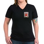 Baronnet Women's V-Neck Dark T-Shirt