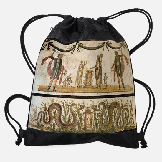 Pig sacrifice, Roman fresco Drawstring Bag