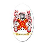 Baroncini 20x12 Oval Wall Decal