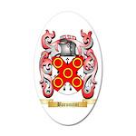 Baroncini 35x21 Oval Wall Decal