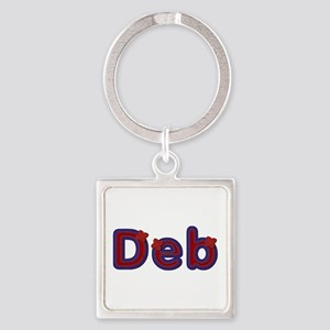 Deb Red Caps Square Keychain