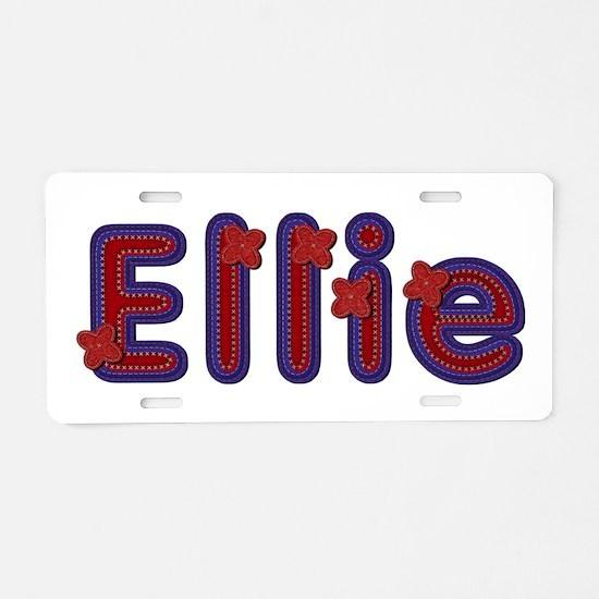 Ellie Red Caps Aluminum License Plate