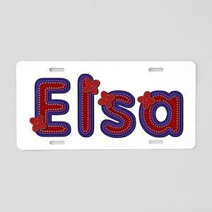Elsa Red Caps Aluminum License Plate