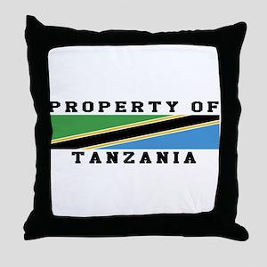 Property Of Tanzania Throw Pillow