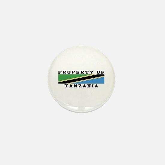 Property Of Tanzania Mini Button