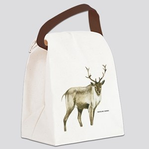 Woodland Caribou Animal Canvas Lunch Bag