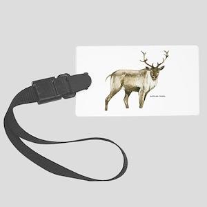 Woodland Caribou Animal Large Luggage Tag