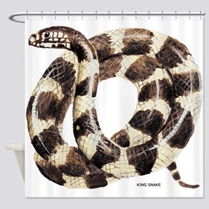 King Snake Shower Curtain