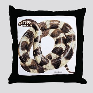 King Snake Throw Pillow