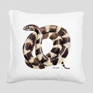 King Snake Square Canvas Pillow