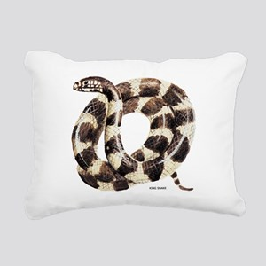 King Snake Rectangular Canvas Pillow