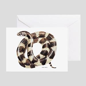 King Snake Greeting Card